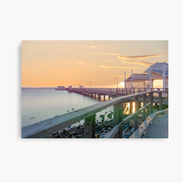 Sunset at Woody Point Jetty Queensland Australia Canvas Print
