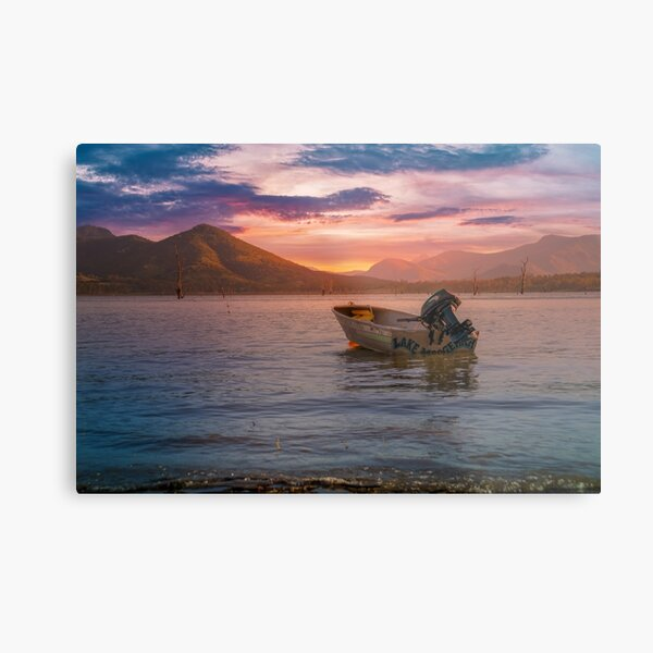 Another beautiful sunset at Lake Moogerah Metal Print