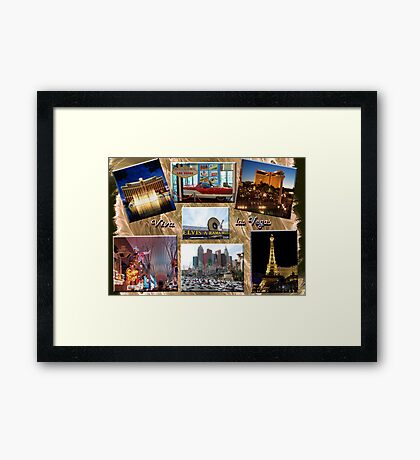 Viva Las Vegas Collage Framed Print