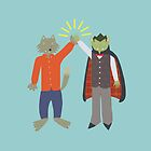 Vampire and Werewolf High Five by HeliconHill