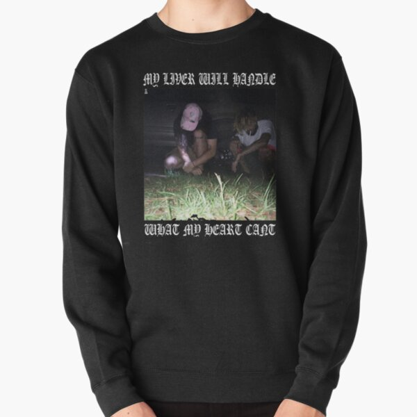 $uicideboy$ MY LIVER WILL HANDLE WHAT MY HEART CANT (white)  Pullover Sweatshirt