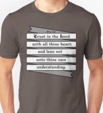 PROVERBS 3:5  - RIBBON BANNER Unisex T-Shirt