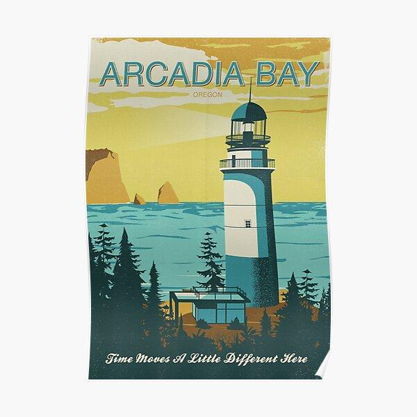 Arcadia Bay - Vintage Tourism Poster Poster