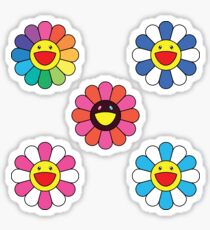 Takashi Murakami Happy Flower 5 Pack Sticker