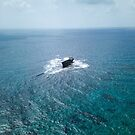 A shipwreck in the middle of the sea by DRONY