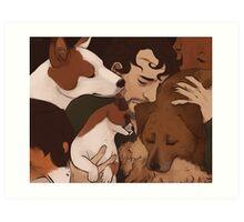 I miss my dogs Art Print