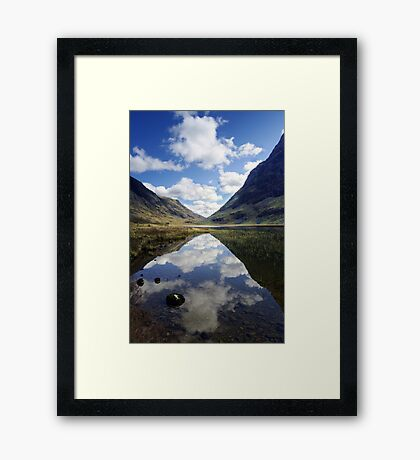 Reflections on a Scots Lake Framed Print