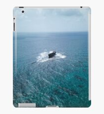 A shipwreck in the middle of the sea iPad Case/Skin