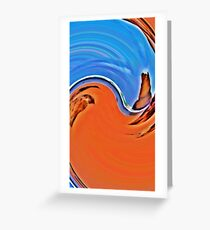 Swirl of Gibsons Steps Greeting Card
