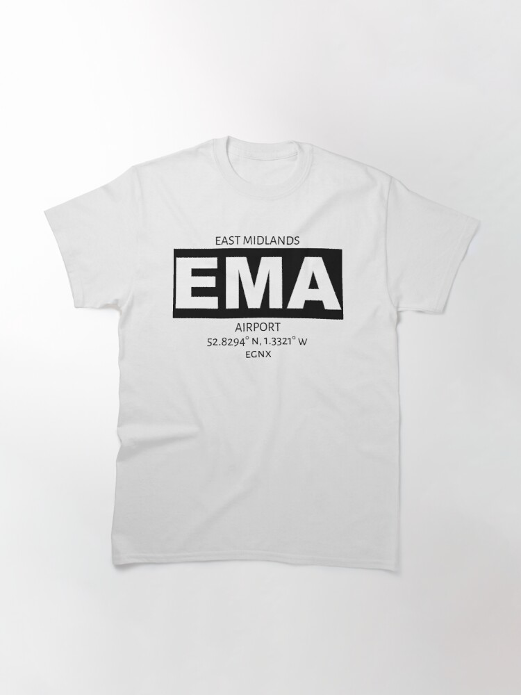 Alternate view of East Midlands Airport EMA Classic T-Shirt