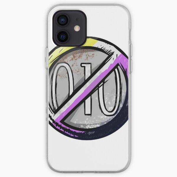 Non Binary Flack Badge iPhone Soft Case