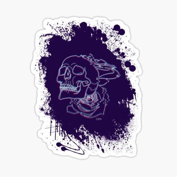 Crâne Glitché Sticker