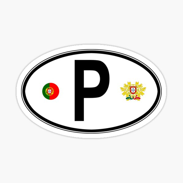 Portugal Oval Country Code Decal Sticker