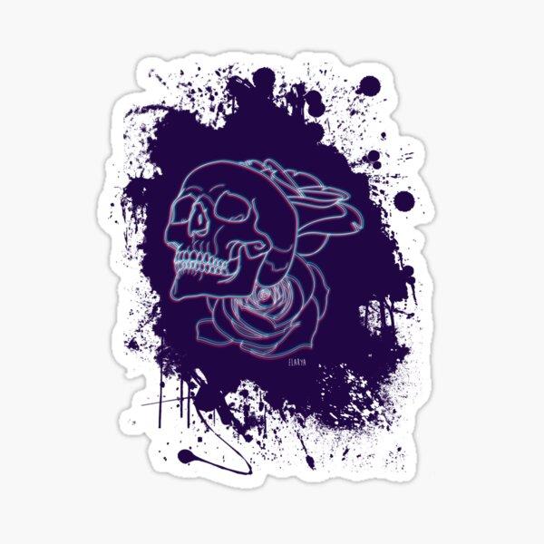 Crâne et roses Sticker