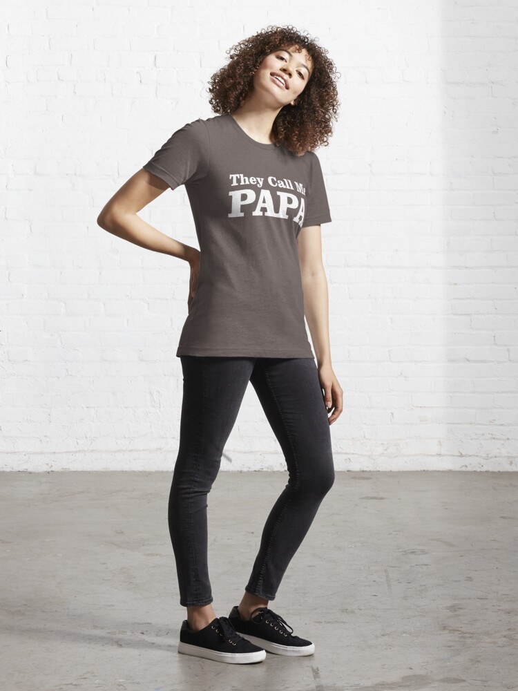 Alternate view of They Call Me Papa Essential T-Shirt