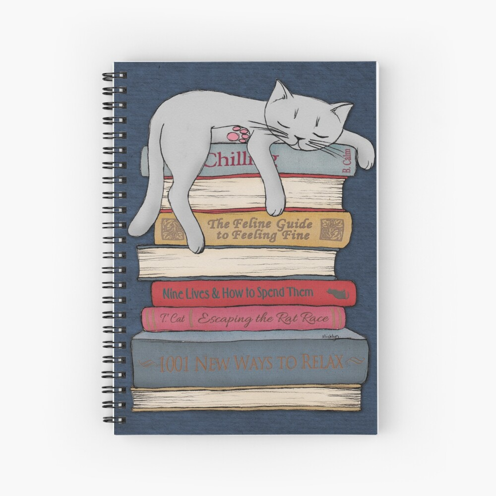 How to Chill Like a Cat Spiral Notebook