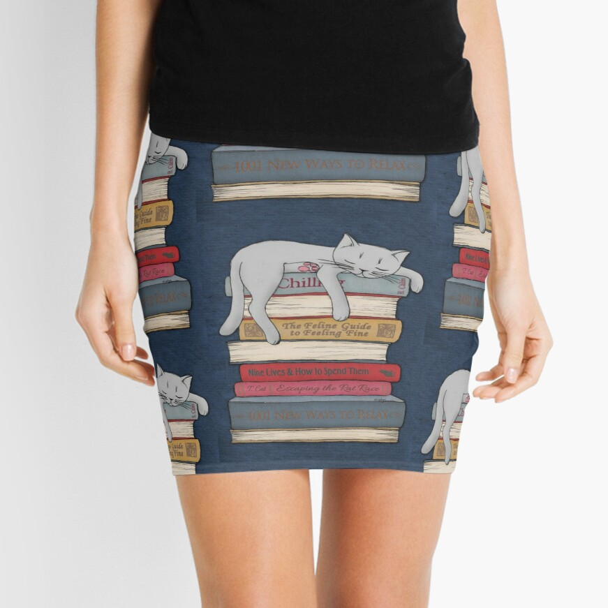 How to Chill Like a Cat Mini Skirt