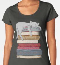 Wie man wie eine Katze chillt Premium Rundhals-Shirt