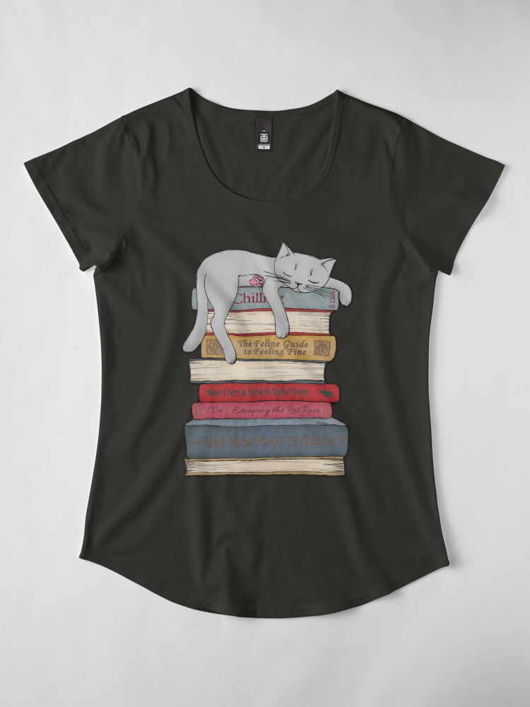 Alternate view of How to Chill Like a Cat Premium Scoop T-Shirt