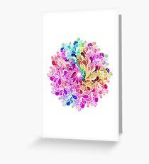 Regenbogen-Aquarell-Paisley-Blume Grußkarte