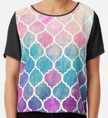 Regenbogen Pastell Aquarell marokkanischen Muster Chiffontop