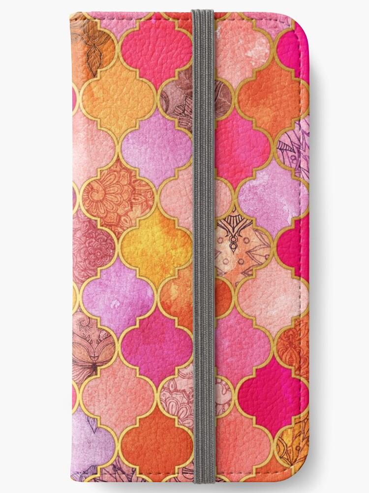 «Patrón de mosaico marroquí decorativo rosa, oro, mandarina y marrón caliente» de micklyn