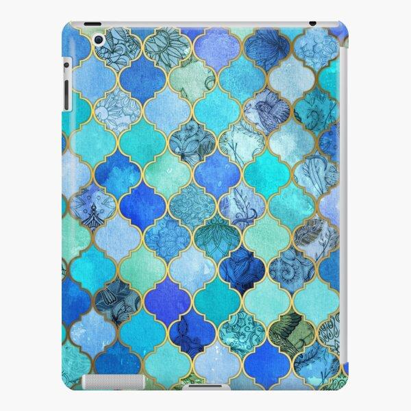 Cobalt Blue, Aqua & Gold Decorative Moroccan Tile Pattern iPad Snap Case