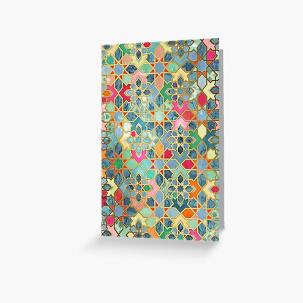 Gilt & Glory - Colorful Moroccan Mosaic Greeting Card