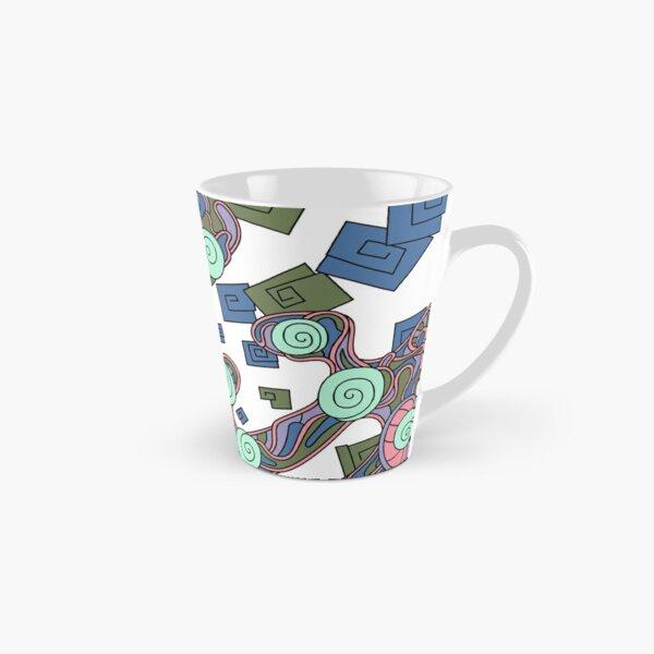 Wandering Abstract Line Art 29: Green Tall Mug
