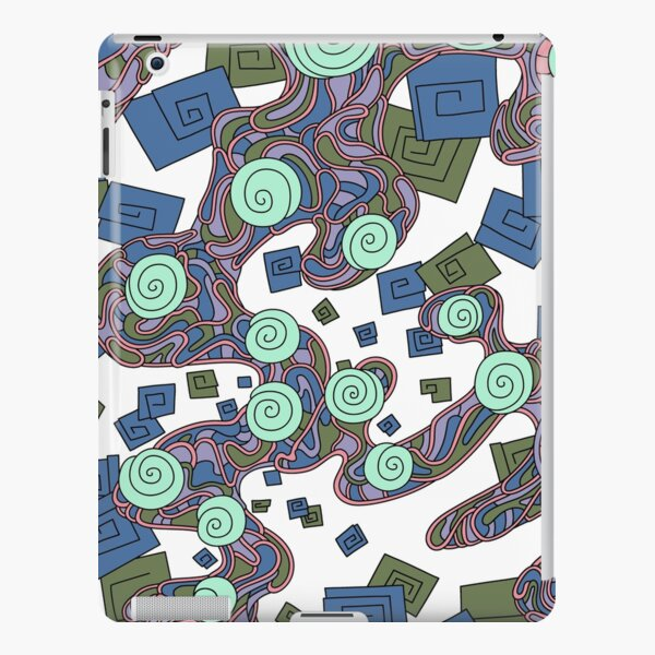 Wandering Abstract Line Art 29: Green iPad Snap Case