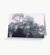 The mysteries of the morning mist Greeting Card