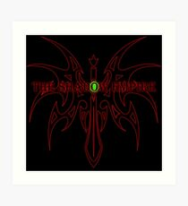The Shadow Empire Hangrius Red Art Print