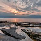 «Puesta de sol de la piscina de marea pastel» de Roger Porter