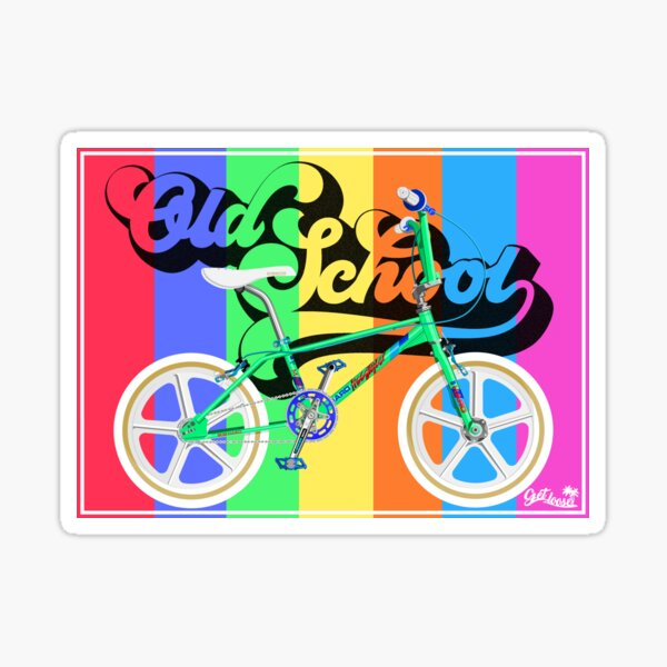 Old school BMX GT BMX ailes Promotional Sticker//Autocollant années 1980