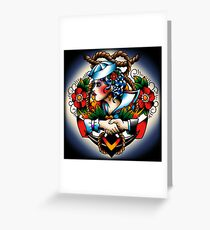 Navy Pinup Greeting Card
