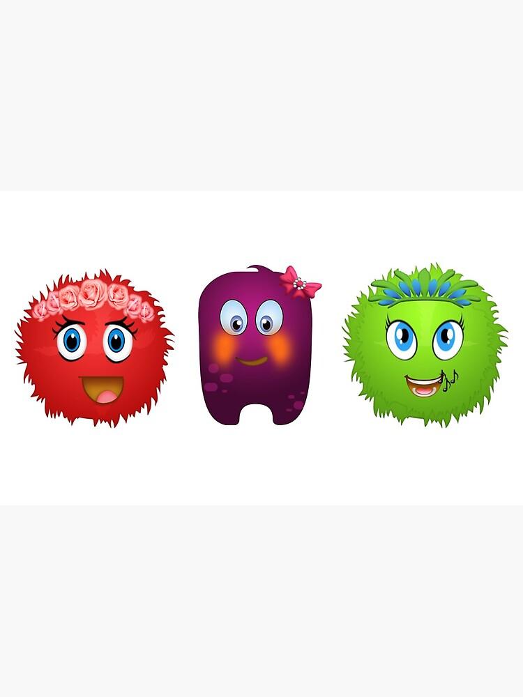 Cute monsters by KellyTwinkle
