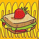 « sandwich à la fraise » par Ophélie Salomé