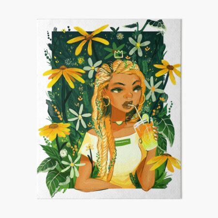 Plant Braids Art Board Print
