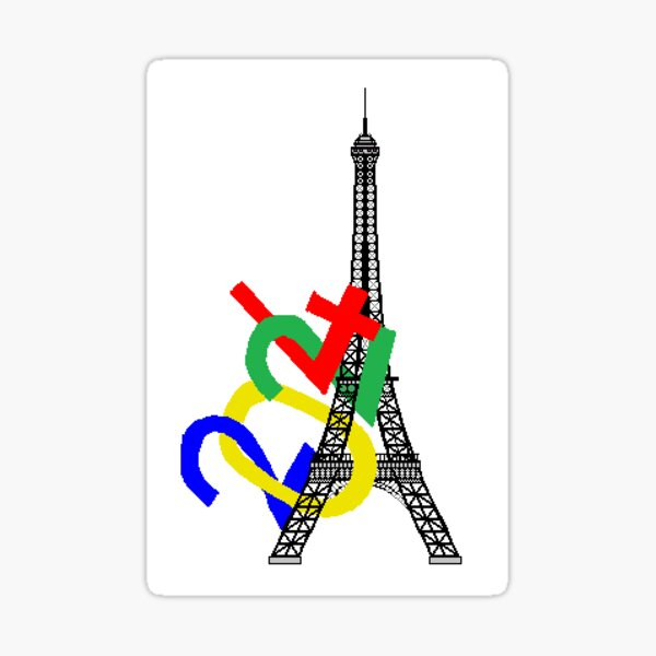Tour Eiffel JO 2024 Sticker