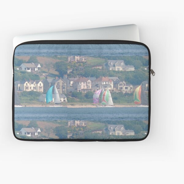 Boats in Water Colour  - Donegal - Buncrana Ireland Laptop Sleeve