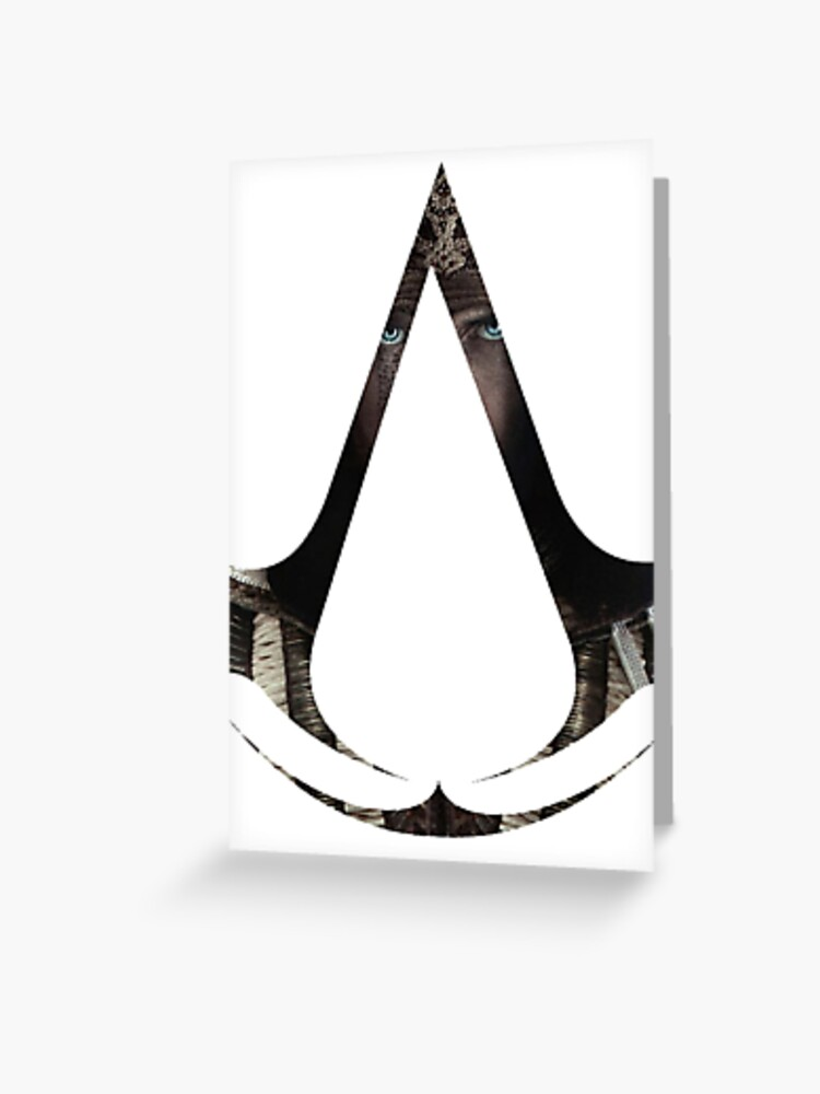 Aguilar Assassin S Symbol Greeting Card By Herogamesdesign Redbubble