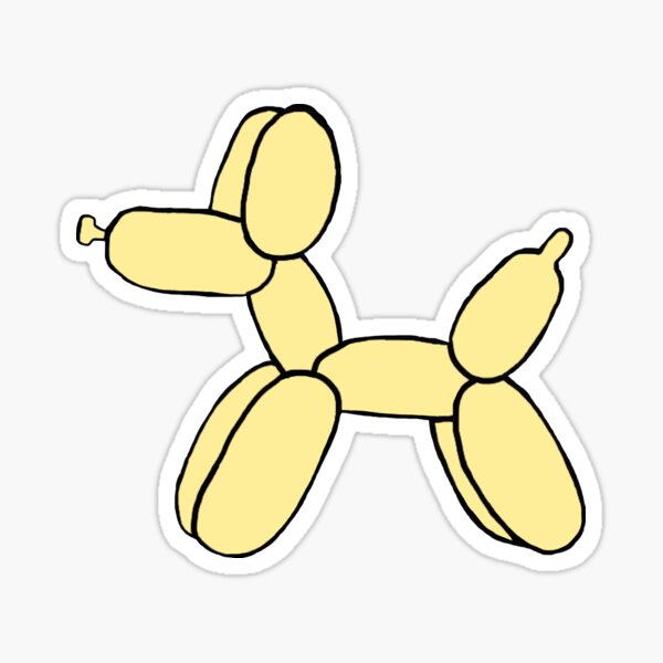 Yellow balloon dog Sticker