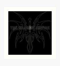 The Shadow Empire Angrelian Black Art Print