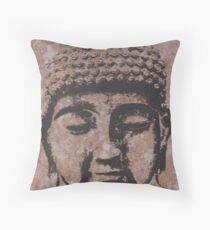 Buddha in Browns/Black Throw Pillow