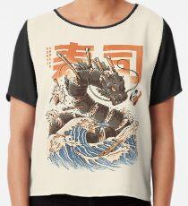 Great Sushi Dragon  Chiffon Top