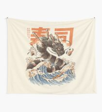 Great Sushi Dragon  Wall Tapestry