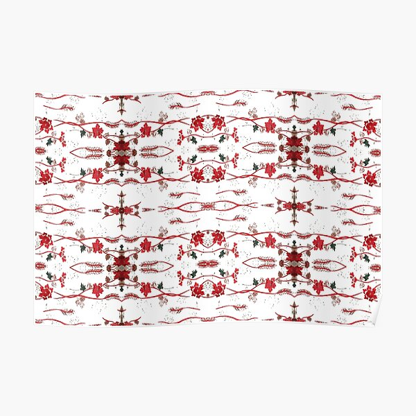 pattern, abstract, fashion, decoration, textile, luxury Poster