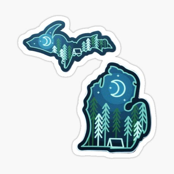 Michigan Camping Sticker