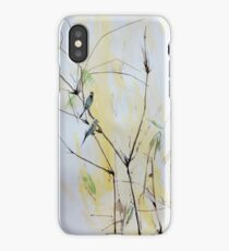 Finches in Bamboo iPhone Case
