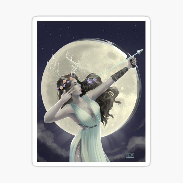 Goddess Of The Hunt Sticker